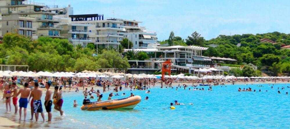пляжи Афин Греция