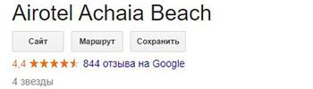отель Airotel Achaia Beach в Греции