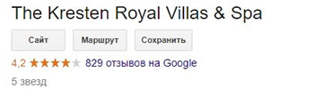 отель The Kresten Royal Villas & Spa в Греции