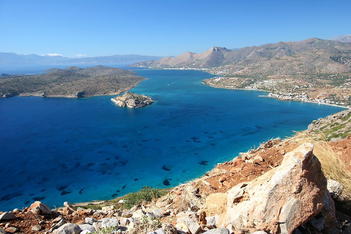 критское море остров спиналонга