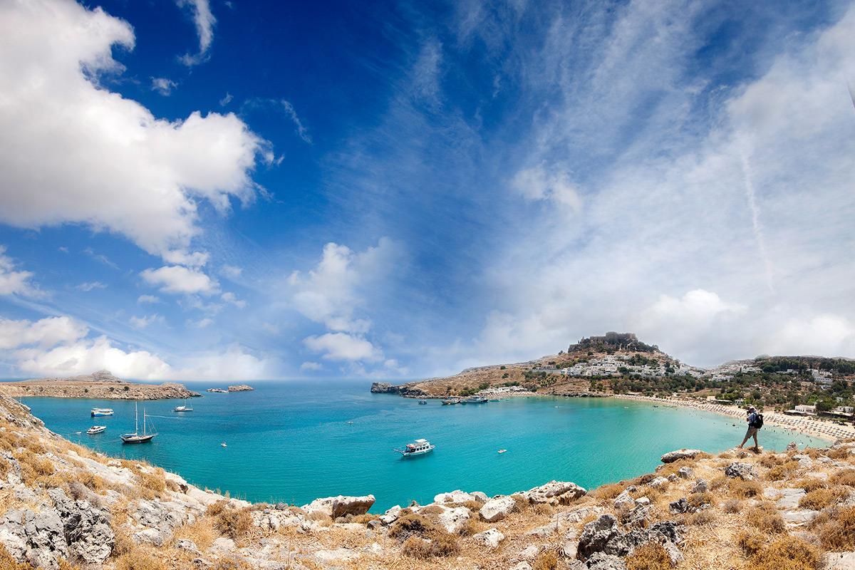 средиземное море линдос остров родос